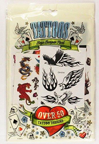 boys-temporary-tattoos-50-designs-kids-tattoo-transfers-childrens