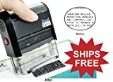 Identity Theft Protection Rubber Stamp - Large (42050-SEC-K) - SHIPS FREE
