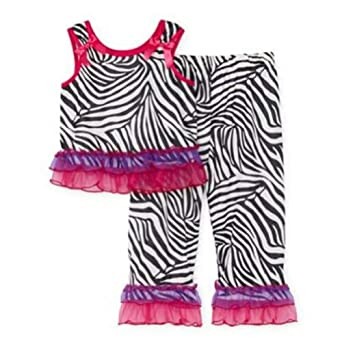 Amazon.com: Laura Dare Zebra Print Pajamas Sleep Pants & Shirt with