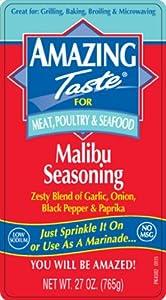 Amazing Taste Malibu Seasoning 2- 27 oz Shakers