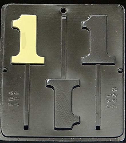 Number 1 Lollipop Chocolate Candy Mold Birthday #1 3429 (Chocolate Mold Number 8 compare prices)