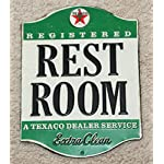 Open Road Brands Texaco Restroom Tin Sign (90146369)