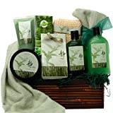 Green Tea Zen Calming Tea Bath and Body Gift Basket Spa Set