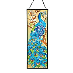 Peacock Suncatcher With Stained Glass Look