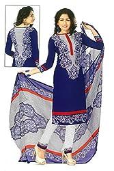 Shree Ganesh Clothing Women Crepe Salwar Suit Dress Material (M-4274 _Blue _Free Size)