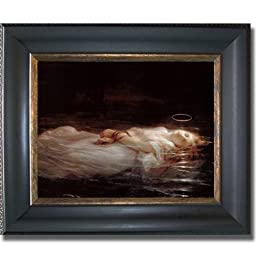 Le Jeune Martyre by Paul Delaroche Premium Black & Gold Framed Canvas (Ready-to-Hang)