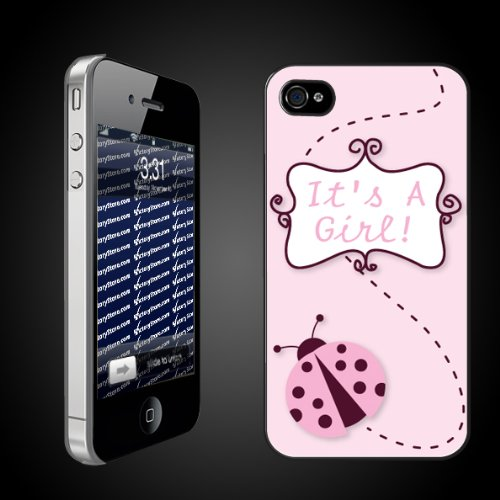 New Baby iPhone Design Its a Girl Ladybug   CLEAR iPhone Hard Case   Protective iPhone 4/iPhone 4S Case