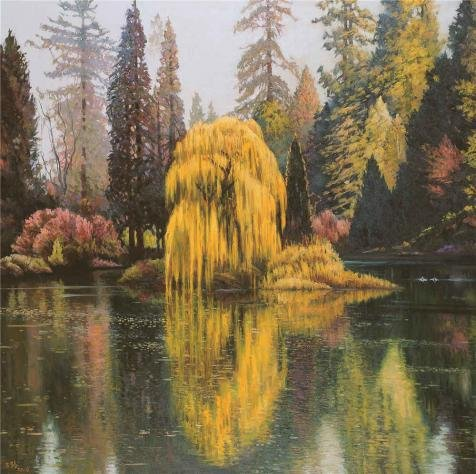 The high quality polyster Canvas of oil painting 'Wang Lu,Landscape of a Lake,2006' ,size: 12x12 inch / 30x31 cm ,this Best Price Art Decorative Canvas Prints is fit for Nursery decoration and Home decor and Gifts
