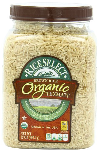 RiceSelect Organic Texmati Brown Rice, 32-Ounce Jars (Pack of 4) (Brown Rice Sushi compare prices)