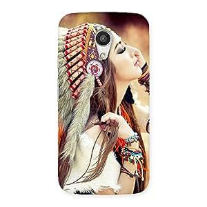 Ajay Enterprises Fill Native Girl Back Case Cover for Moto G 2nd Gen