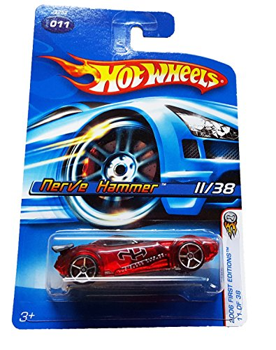 Mattel Hot Wheels 2006 First Editions 1:64 Scale Red Nerve Hammer Die Cast Car #011 - 1