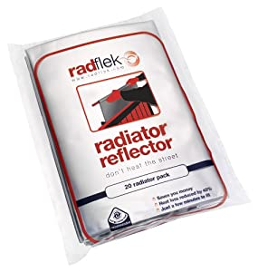 Radflek Radiator Reflectors (10 Sheets, Fits 10-20 Radiators) (discontinued by manufacturer)
