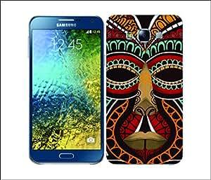 Galaxy Printed 2449 Native Chalk Mask Adivasi Hard Cover for Samsung E5