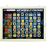 Kids Done Right My Weekly Chores Rockets Magnetic Dry-Erase Rewards Chart, Blue