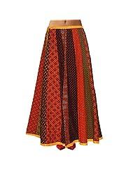 Sttoffa Womens Cotton Skirts -Multi-Colour -Free Size