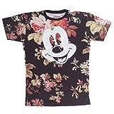 neff Men's Mickey Face X Disney Colab Short Sleeve T-Shirt, Floral, Large
