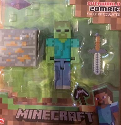 Minecraft Overworld Series 1 Zombie Action Figure by Jazwares