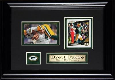 Brett Favre Green Bay Packers 2 Card frame