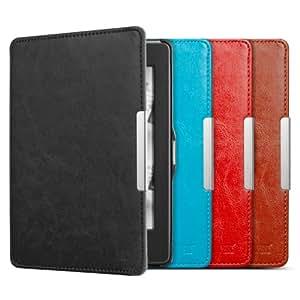 Anker® Lederhülle für Amazon Kindle Paperwhite 2014 2013 2012 Tasche PU Leder Case Schutzhülle mit Auto Sleep/Wake up - Smart Cover - Einfach & Leicht (Schwarz)