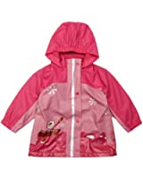 Playshoes Mädchen Regenmantel 408595-18 Playshoes Winter Regenjacke mit Fleecefutter, Style Eskimo, rosa-pink (Weitere Farben)
