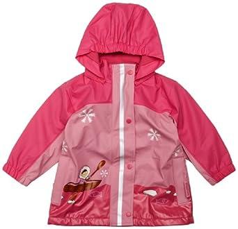 Playshoes Girl's Rain Coat with Fleece Lining Pink 7-8 Years