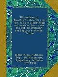 Die sogenannte demotische Chronik : des Pap. 215 der Bibliothèque nationale zu Paris nebst den auf der Rückseite des Papyrus stehenden Texten (German Edition)