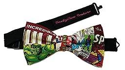 Star War-Super Heroes-Sci Fi Bow Ties (Group 2 of 2) (Medium (6-12 Year Olds), Marvel Comic/Hulk)