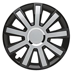 Albrecht 49375 Flash III Gloss Black/Silver Plus 15″ Wheel Cover, (Set of 4)