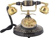 Shaw Sons Brass Black Antique Telephone (16 x 16 x 19 cms, Black)