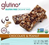 Glutino Gluten Free Organic Bars, Chocolate and Peanut, 5 Ounce
