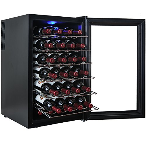 AKDY® 28 Bottle Single Zone Thermoelectric Freestanding Wine Cooler Cellar Chiller Refrigerator Fridge Quiet Operation (Wine Fridge Parts compare prices)