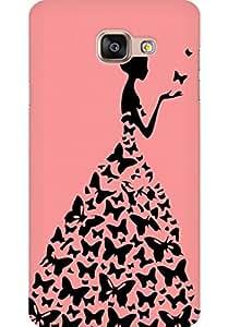 AMEZ designer printed 3d premium high quality back case cover for Samsung Galaxy A5 2016 (peach rpincess)