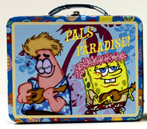 SpongeBob SquarePants Pals in Paradise Embossed Metal Lunch Box/ Carry-All - 1