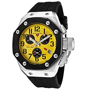 Mens 10541-07-BB Trimix Diver Collection Chronograph Black Rubber Watch