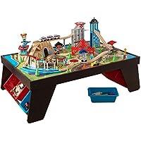 KidKraft Aero City 85-Pcs. Train Set & Table