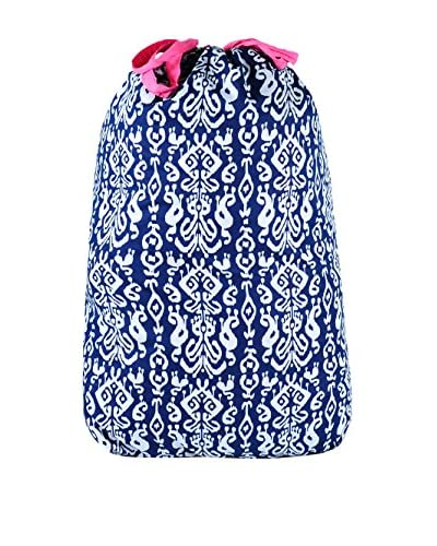 Malabar Bay Ikat Navy Laundry Bag
