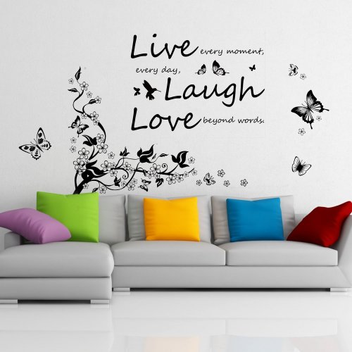 walplus-wall-stickers-butterflies-tree-branch-vivid-live-laugh-love-removable-self-adhesive-mural-ar