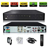 SANNCE Full D1/HDMI/960H Economical Cloud DVR with Cloud Push /Video Linkage/Remote Viewing service/ P2P (NO HDD)