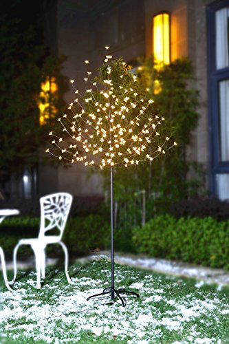 U-PHA 6 1/2 Ft Christmas Cherry Blossom Tree, 208 LEDs, Flexible Branches for DIY Shapes, Warm White Light,Ideal for Holiday,...