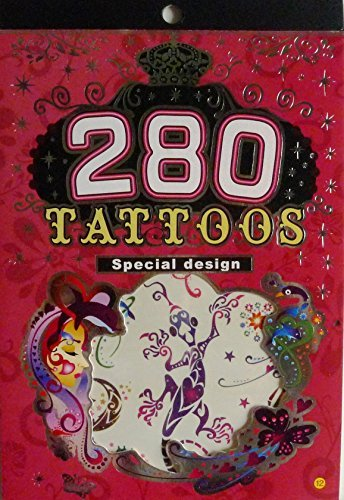 [V12- 280 TATTOOS Special Design 6 sheets Temporary Tattoos Body art Sticker- Abstract, Butterfly] (Cool Face Painting Costumes)