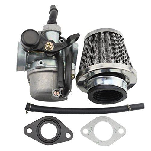 GOOFIT PZ19 Carburetor with Air Filter for Kazuma Taotao Baja Polaris Roketa SUNL Honda XR/CRF 50cc 70cc 90cc 110cc 125cc ATV Dirt Pit Bike Go Kart Chinese 4 Wheeler