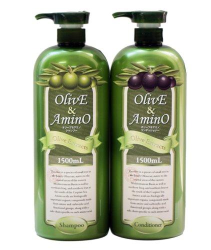 ノンシリコンオリーブ&アミノ 大容量 1500ml オリーブオイル + アミノ酸