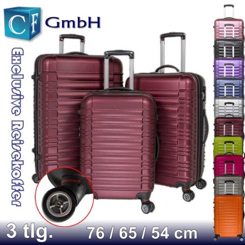 Weinrot 3 tlg. LG2088 Reisekofferset Koffer Kofferset