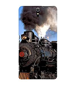 Train Engine 3D Hard Polycarbonate Designer Back Case Cover for Sony Xperia C5 Ultra Dual :: Sony Xperia C5 E5553 E5506 :: Sony Xperia C5 Ultra