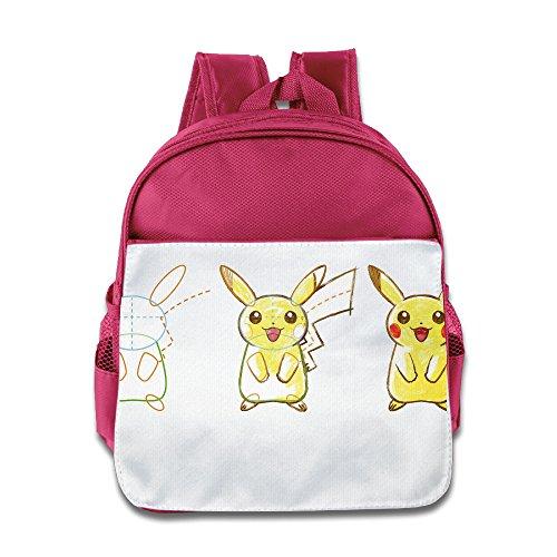 JXMD Custom Cute Stealth Poke Kids Children School Bag For 1-6 Years Old Pink