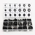 Set of 125pcs Black Wiring Cable Rubb...