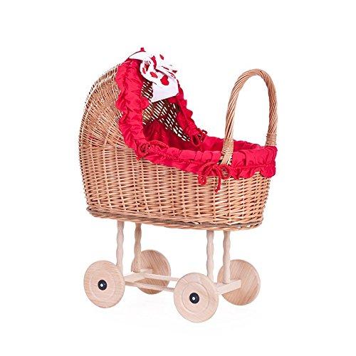 Ein Wagen, ein Bett für Puppen aus Weide, Spielzeug