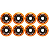 8 Labeda Gripper Asphalt Outdoor Roller Hockey Wheels - Orange 80mm