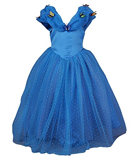 2015 New Cinderella Princess Girl Costume Dress