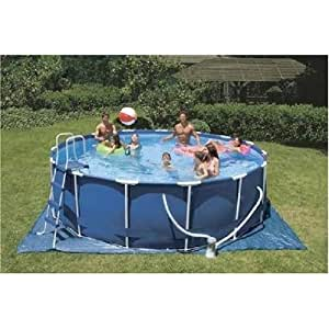 Intex 15 Foot By 48 Inch Round Metal Frame Complete Pool Kit Toys Games